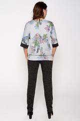 """Модный костюм из мягкого трикотажа для деловой леди. Блузон """"кимоно"""", плюс классические брюки на резинке. (Длина : 46-48=64см; 50-52=66см; дина брюк=102см)"""