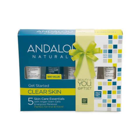 Andalou Naturals. Набор из 5 минипродуктов «комплексное очищение лица»