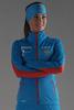 Элитный утеплённый лыжный костюм Nordski Elite G-TX RUS Blue женский