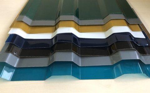 Профилированный поликарбонат трапеция цветной матовый 1,05х2 0,8 мм