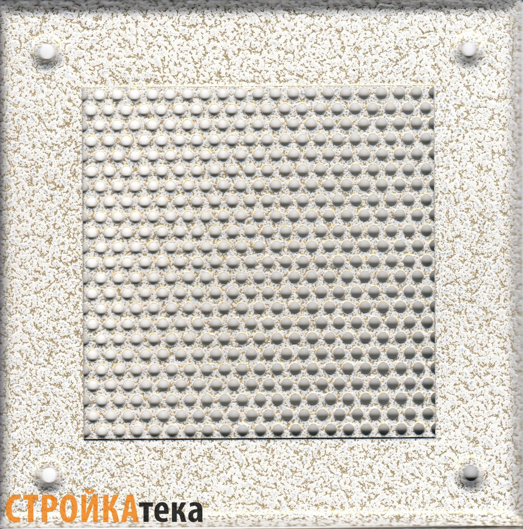 Металлические перфорированные решетки Решетка 150*150 белый антик, кружок eb652fbbdc7234a592b9286d39e9da34.jpg