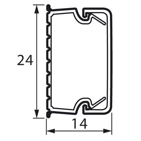Мини-канал 24x14 - 2 метра - с крышкой. Цвет Белый. Legrand Metra (Легранд Метра). 638193