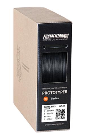 Пластик Filamentarno! PRO TOTAL GF-30 ударопрочный стеклополненный черный. 750 гр.