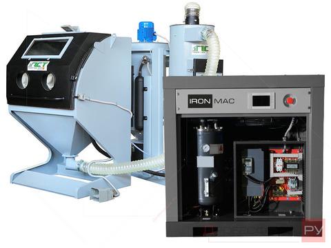 Комплект пескоструйного оборудования для обработки литых дисков