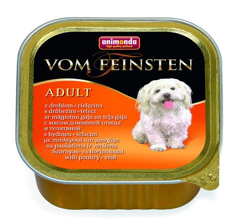 Консервы Animonda Vom Feinsten Adult с мясом домашней птицы и телятиной для взрослых собак