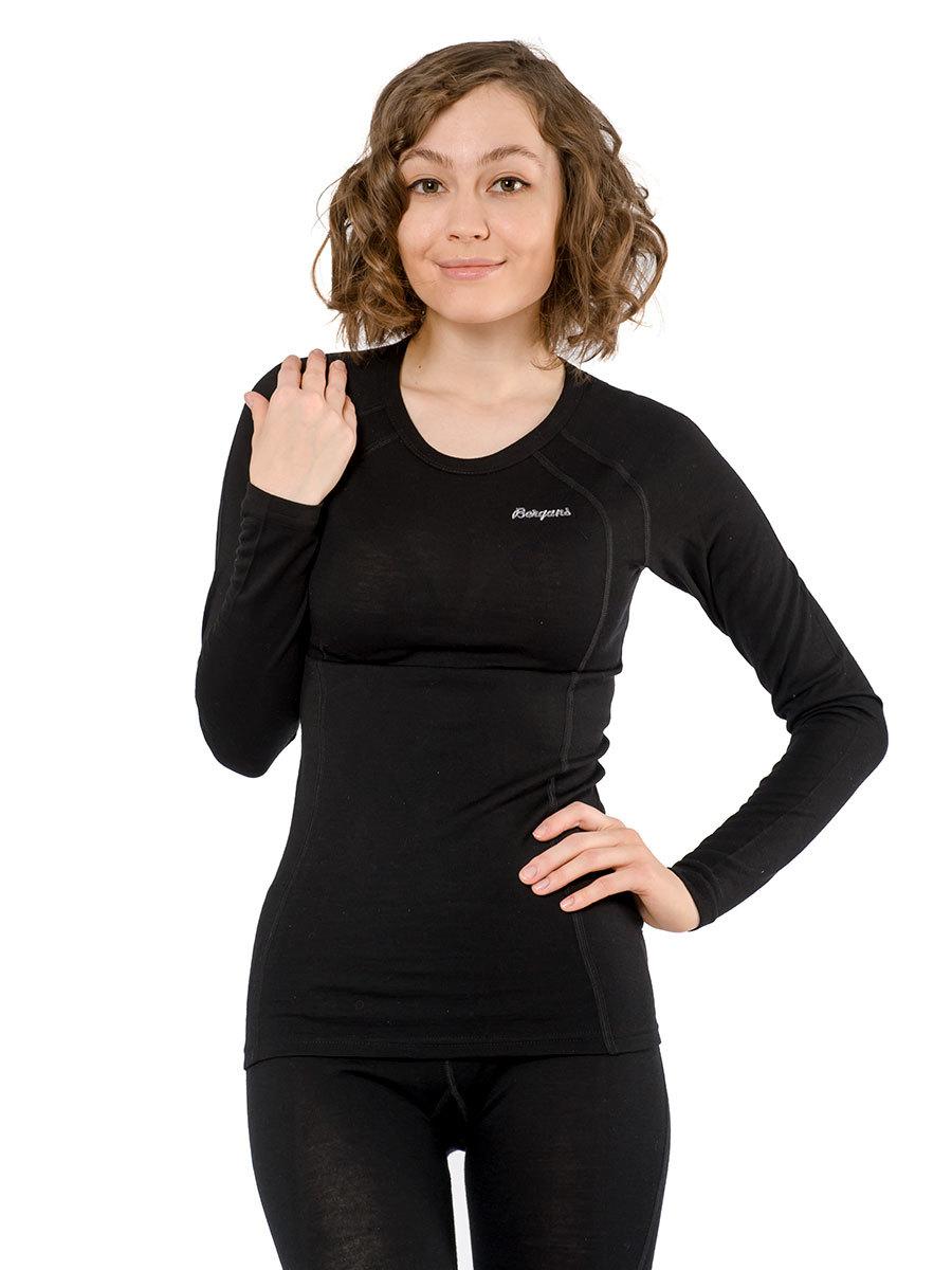 Bergans термобелье футболка 1965 Fjellrapp Lady Shirt Black