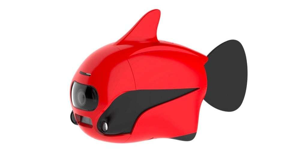Подводный дрон RoboSea BIKI V1.0 красный сбоку