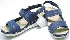 Летние женские босоножки натуральная кожа Inblu CB-1U Blue.