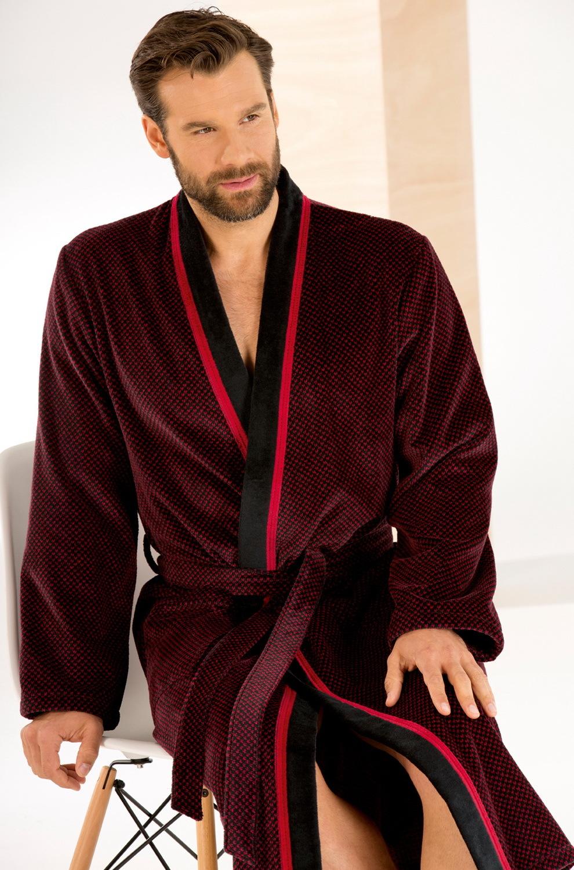 Халаты Элитный халат-кимоно велюровый 4839 красный/черный от Cawo elitnyy-halat-kimono-velyurovyy-4839-krasnyychernyy-ot-cawo-germaniya-vid.jpg