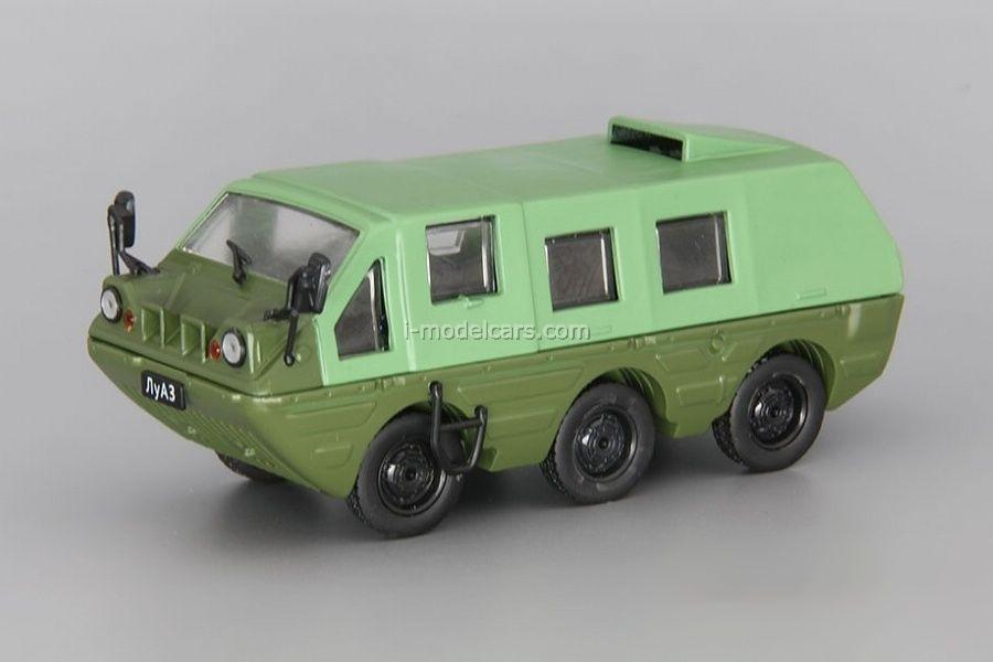 LUAZ-1901 Geologist ATV-amphibian green 1:43 DeAgostini Auto Legends USSR #227