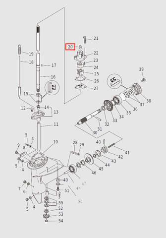 Сальник корпуса помпы для лодочного мотора T9.8 Sea-PRO (13-20)