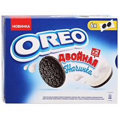 """Печенье """"Oreo"""" с какао и двойной начинкой с ванильным вкусом, 170 г"""