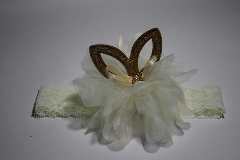 Ажурная повязка с цветком (арт.3011 мол)