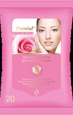 Bumfa Group Premial Салфетки влажные для снятия макияжа 20шт