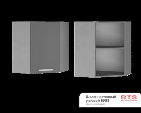 Шкаф настенный  угловой (600*720*600) 6УВ1