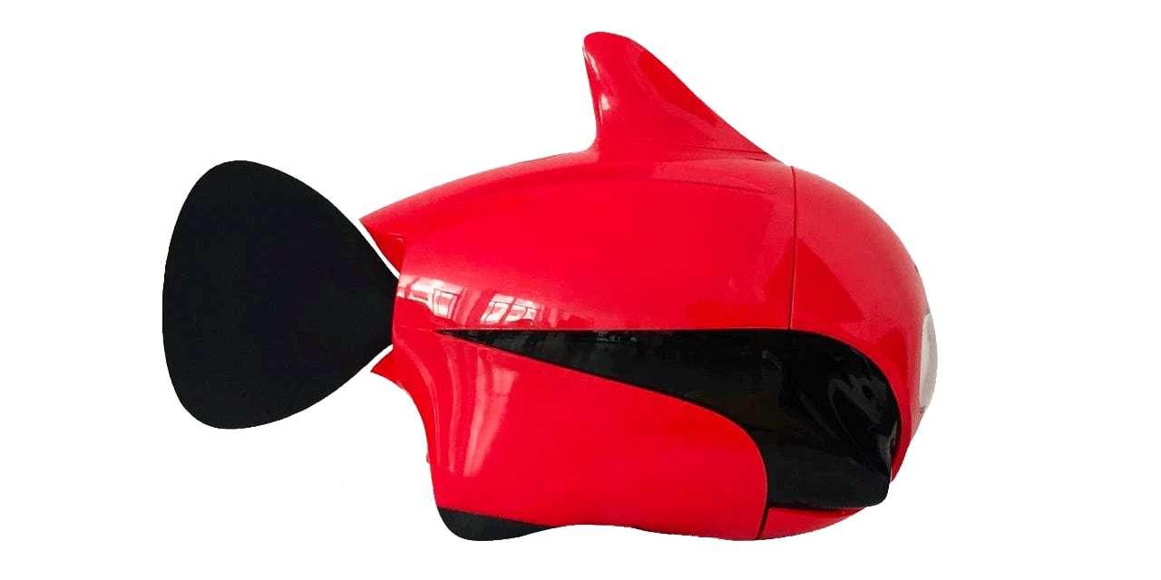Подводный дрон RoboSea BIKI V1.0 красный вид справа