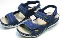 Модные босоножки женские натуральная кожа Inblu CB-1U Blue.