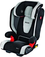 Детское кресло RECARO Monza Seatfix (материал верха Topline Microfibre Black/Silver)