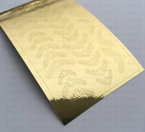 Металлизированные наклейки №121 Gold