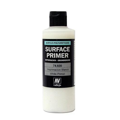74600 Surface Primer акриловый полиуретановый грунт, белый (White), 200 мл Acrylicos Vallejo