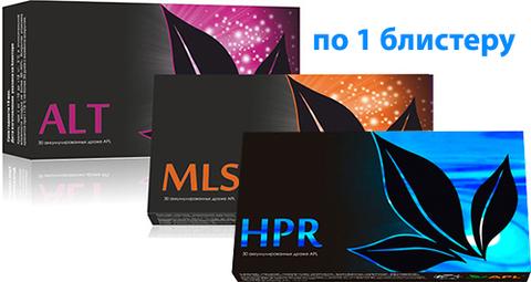 APL. Набор аккумулированных драже APLGO. ALT+MLS+HPR для восстановления и защиты печени по 1 блистеру