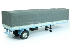 semitrailer MAZ-9380-2 with awning blue-gray 1:43 Nash Avtoprom
