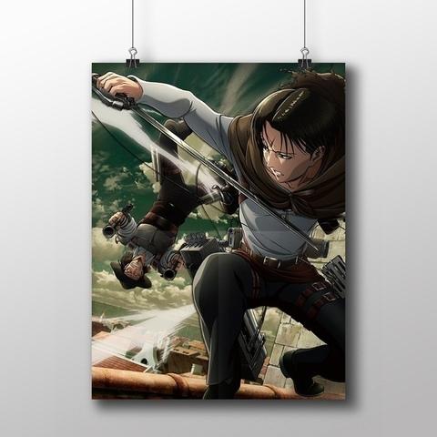 Плакат с Леви и Кенни