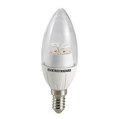 Лампа светодиодная CR 12SMD E14 6W 3300K свеча прозрачная 4690389054617