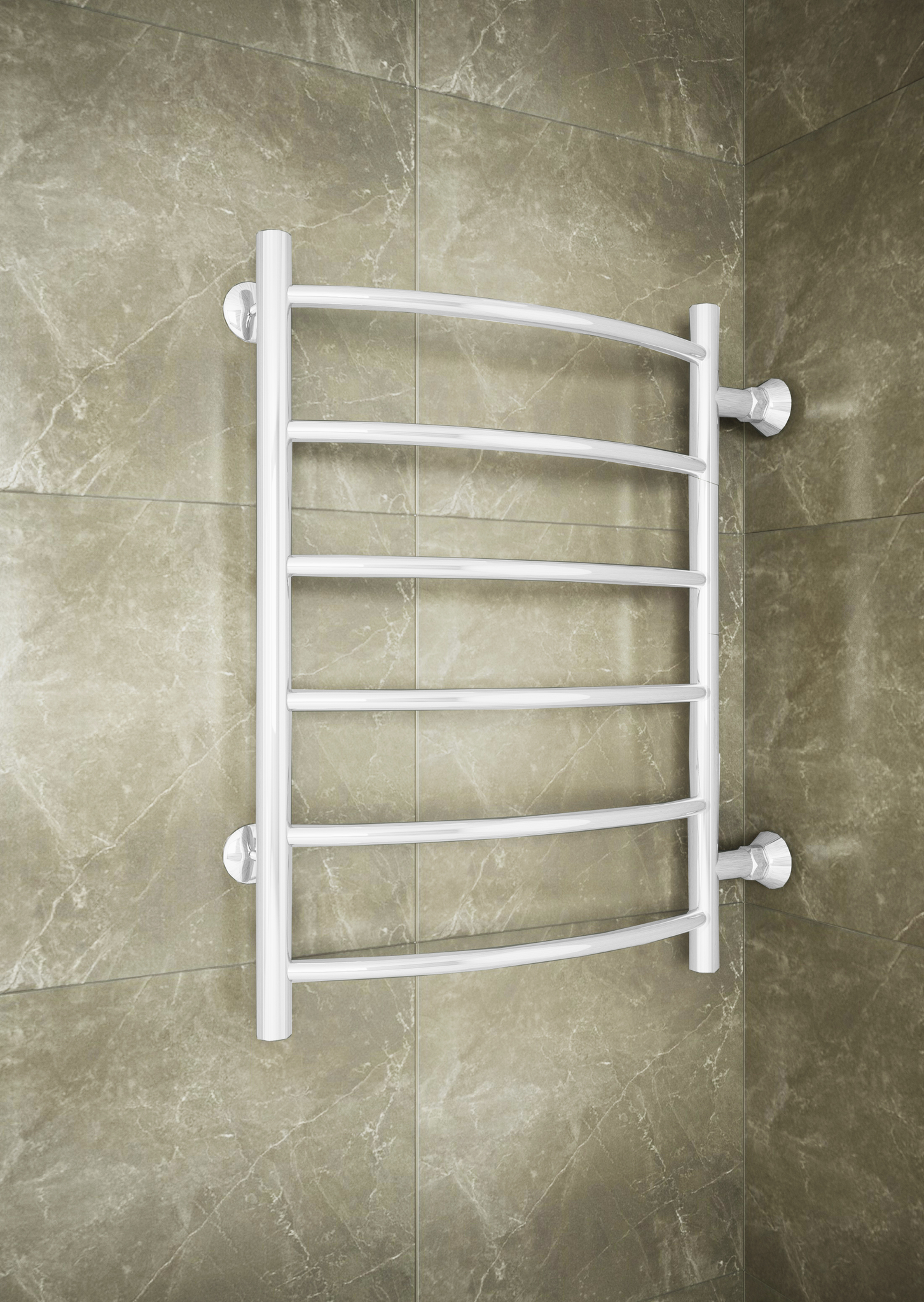 Classic - водяной полотенцесушитель с боковым подключением белого цвета.