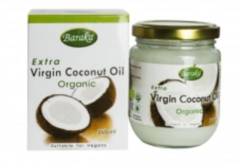 Кокосовое масло нерафинированное Барака, Органик,200 мл Премиум стекло