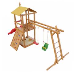 Детская деревянная игровая площадка Мадагаскар