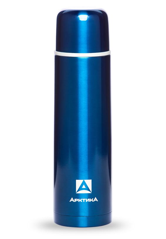 Термос Арктика (1 л.) с узким горлом классический, синий