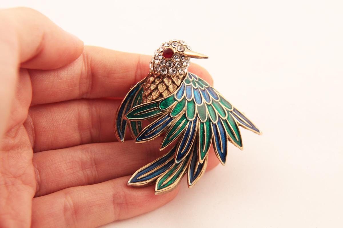 Изысканная брошь «Птица» от D'Orlan
