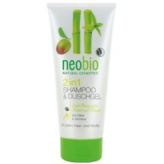 Neobio, Шампунь-гель 2 в 1 c био-оливой и бамбуком, 250мл