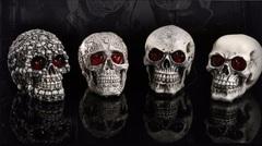 Ужасы декорация Череп со светящими глазами — Halloween Decorative Skull Eyes Luminous
