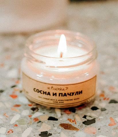Свеча ароматическая Сосна и пачули, Banka home