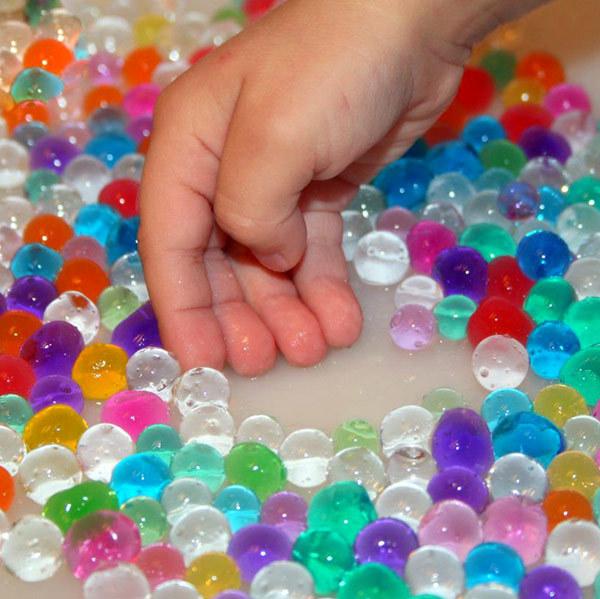 гидрогелевые шарики / гидрогель / шарики орбиз разноцветные для сенсорных игр