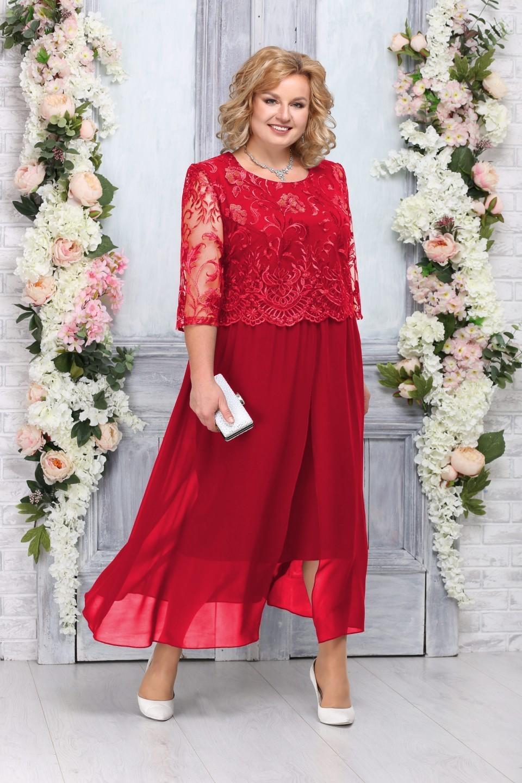 Платье 7268 красный