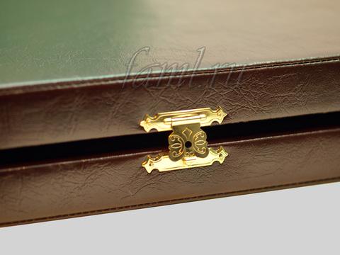 Подарочный футляр Classic из декоративной кожи для фамильного диплома А3