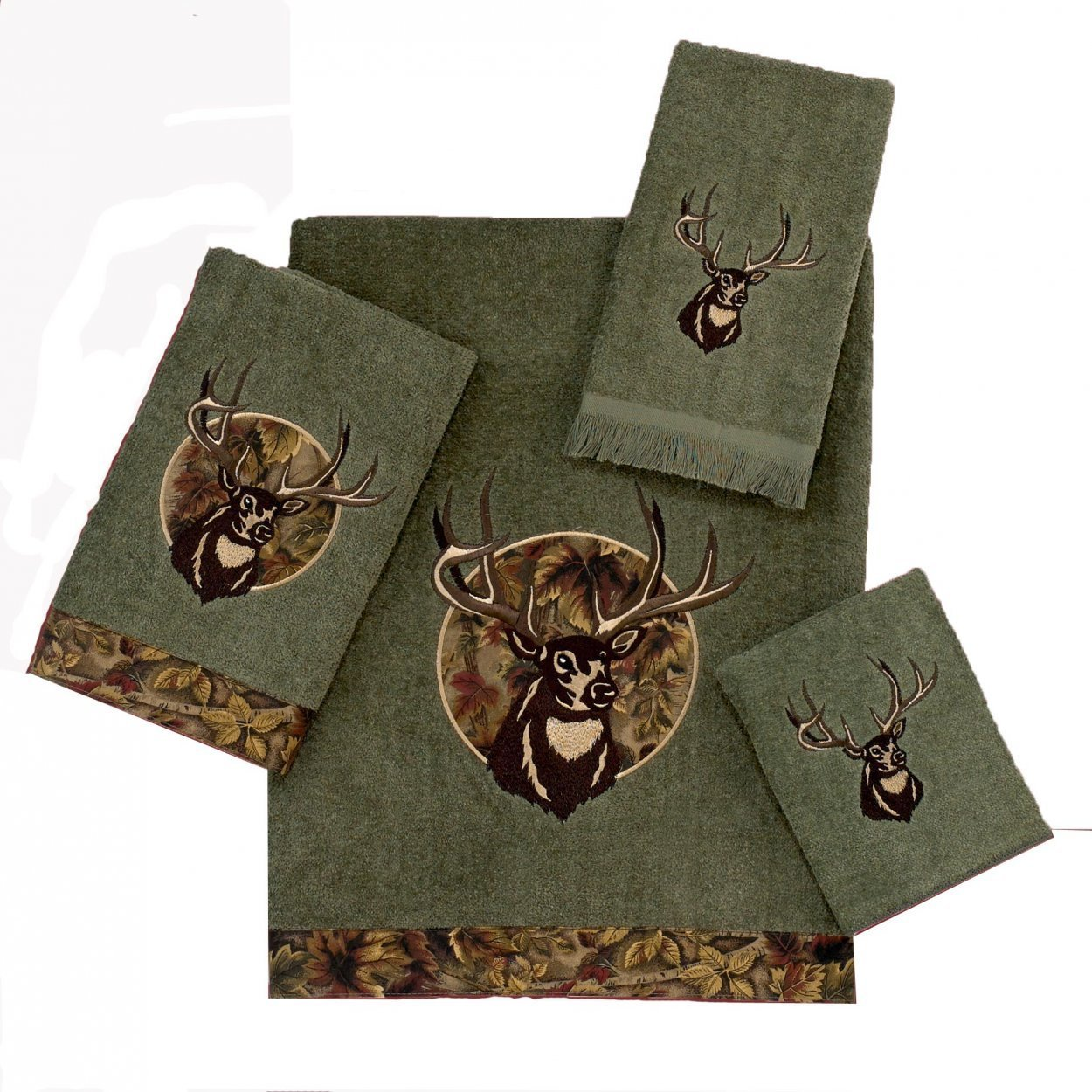 Полотенце 69х127 Avanti Camo Deer зеленое