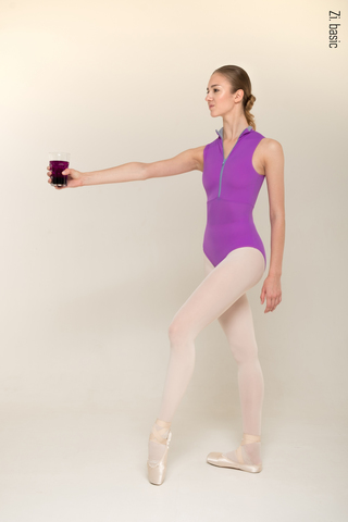 Zip leotard (new shade of violet)