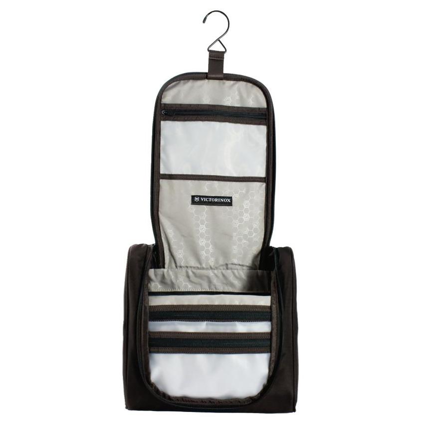 Несессер Victorinox с крючком и карманом-органайзером, чёрный, 27x9x27 см, 6 л