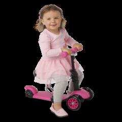 Детский самокат-беговел 3 в 1 для девочек