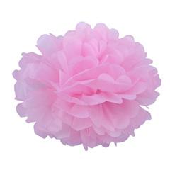 Помпон из бумаги 30 см розовый