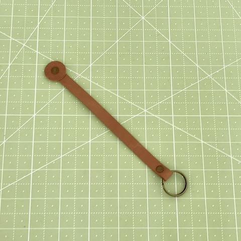 Ключница с кольцом. 17 см (светло-коричневый)
