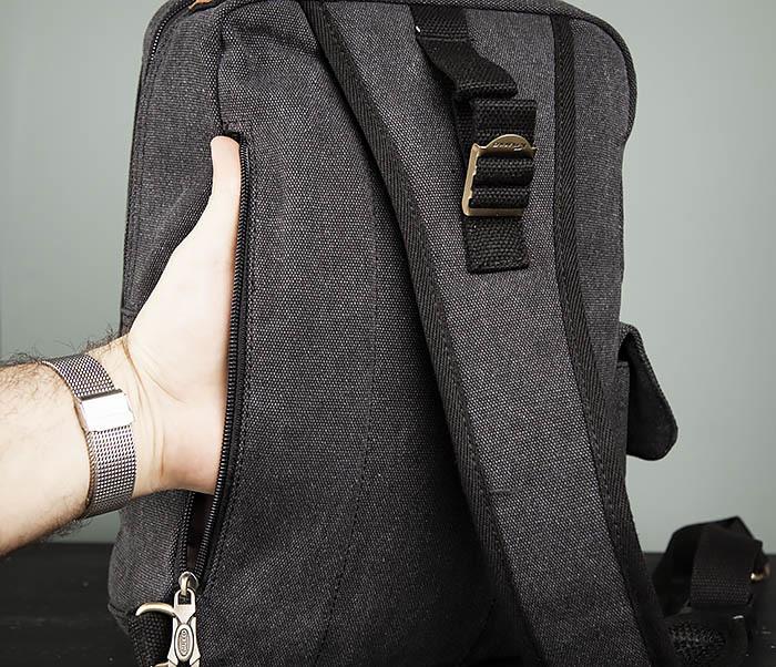 BAG394-1 Черный компактный рюкзак с одной лямкой через плечо фото 10