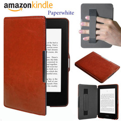 Чехол Hard Case Magnetic Cover with Hand Grip с фиксатором на руку для Amazon Kindle Paperwhite Brown Коричневый