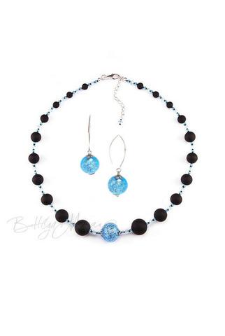 Комплект Monte Amiata Aqua (ожерелье и серьги)