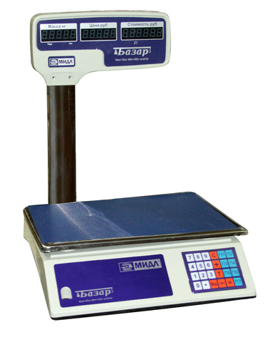 Весы торговые МИДЛ МТ 15 МГДА (2/5; 340х230)