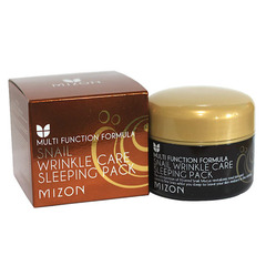 Mizon Snail Whinkle Care Sleeping Pack - Маска ночная для лица с муцином улитки